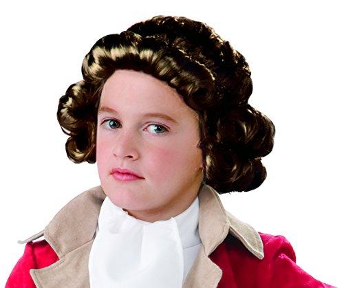[Forum Novelties Kids Colonial Boy Wig, Brown, One Size] (Colonial Brown Wig)