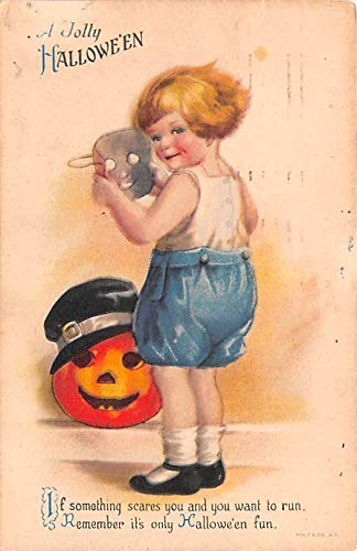 Halloween Post Card Old Vintage Antique Artist Ellen Clapsaddle 1920 -