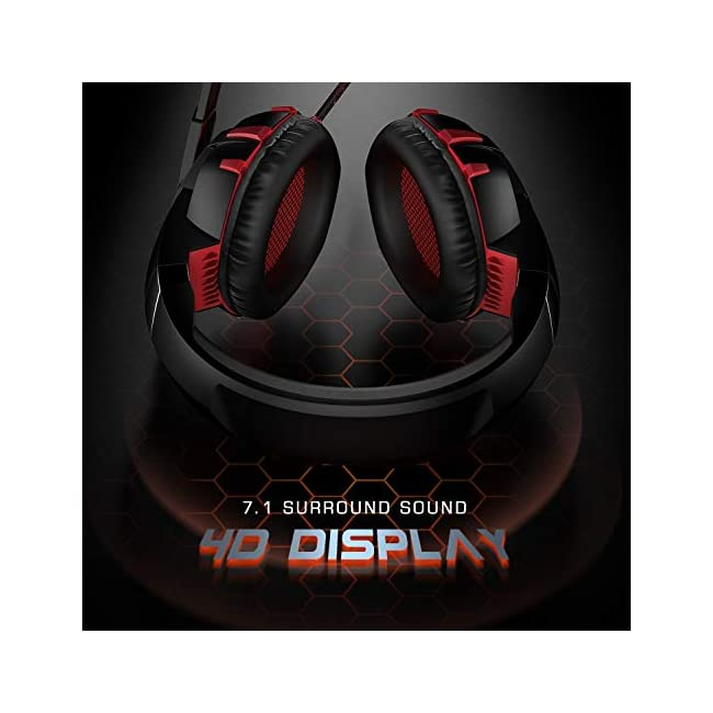 RUNMUS GAMING HEADSET AURICULARES XBOX ONE CON SONIDO ENVOLVENTE 7.1 Auriculares PS4 con micrófono con cancelación de ruido y luz LED Compatible con PC PS4 Controlador Xbox One (adaptador no incluido)