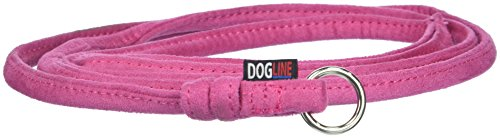 Dogline Soft and Padded Comfort Microfiber Round Slip Lead for Dogs, Pink (W1/4