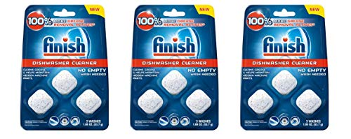 Finish in-Wash Dishwasher Cleaner: Clean Hidden Grease & Grime, 3ct (Pack of 3)