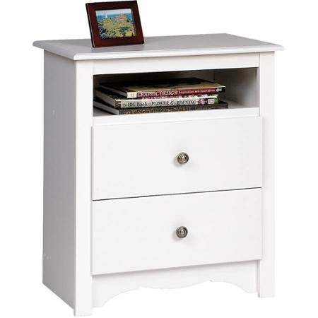 Monterey Tall 2-Drawer Nightstand with Open Shelf