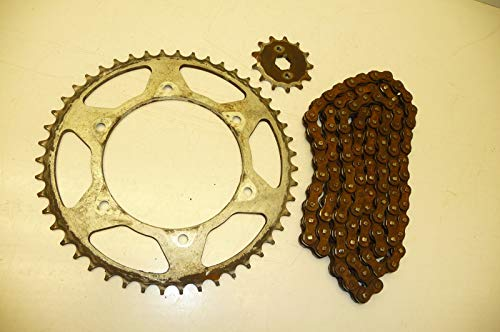 Honda XR200 XR 200#5137 Chain with Rear &Front/Counter Shaft Sprockets