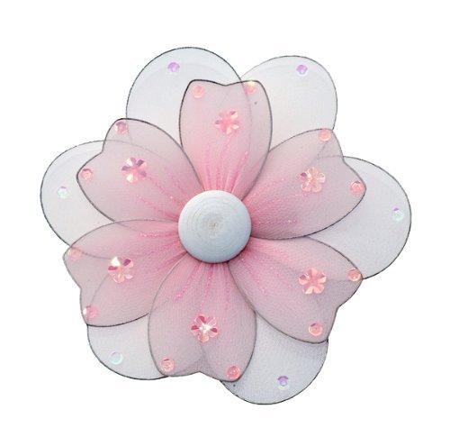 """Colgando 16 Flor """"Pink multi capa de nylon Daisy Flores Decoraciones X-Large. Decorar un dormitorio del bebé Nursery, Techo Girls Room decoración de la pared, de boda, fiesta de cumpleaños, Baby Shower nupcial, Baño. Childrens niños Margaritas decoración de la pared 3D arte DIY Craft"""
