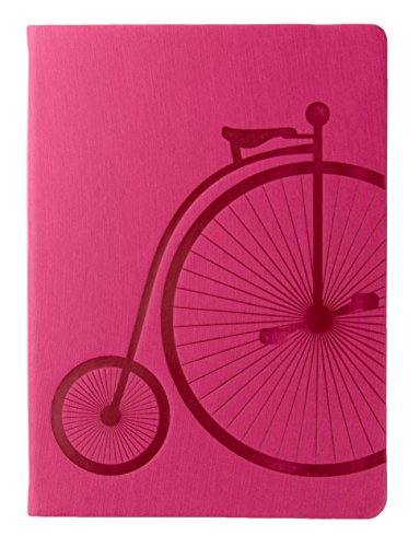 Red Co Journal with Embossed Bicycle, 240 Pages, 5
