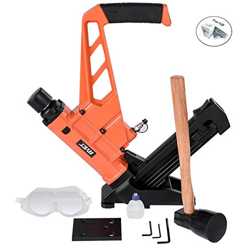 2-in-1 Dual Handle Flooring Nailer and Stapler with Hammer Only by eight24hours + SPECIAL GIFT