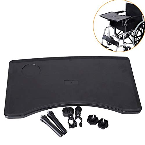 WUHX Removable Wheelchair Tray Table, with Cup Holder Portable Child Chair Tray Desk Tray Accessory, for Eating, Reading