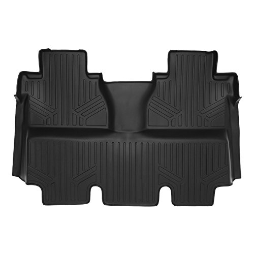 MAXLINER B0155 MAXFLOORMAT Floor Mats 2nd Row Black for 2014-2018 Toyota Tundra CrewMax (Coverage Under 2nd Row Seat)