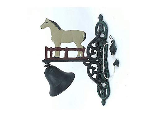 - Cast Iron Horse Welcome Dinner Bell Yard Art Wall Hanging Garden