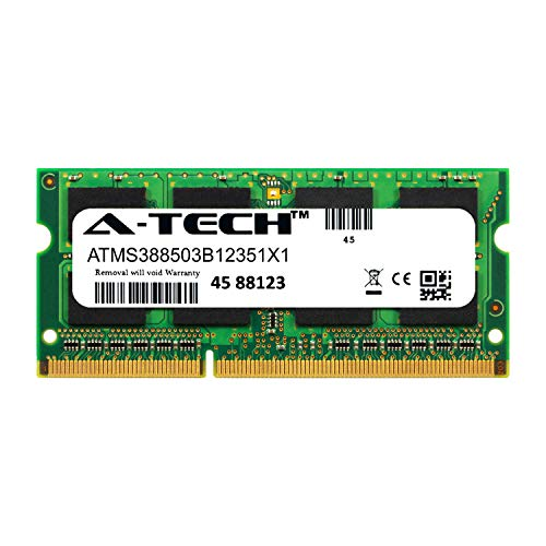 A-Tech 8GB Module for EUROCOM Racer Laptop & Notebook Compatible DDR3/DDR3L PC3-12800 1600Mhz Memory Ram (ATMS388503B12351X1)