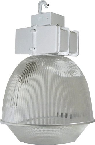 RAB BLH250P16DLPSQ Low Prismatic Bay Light, White