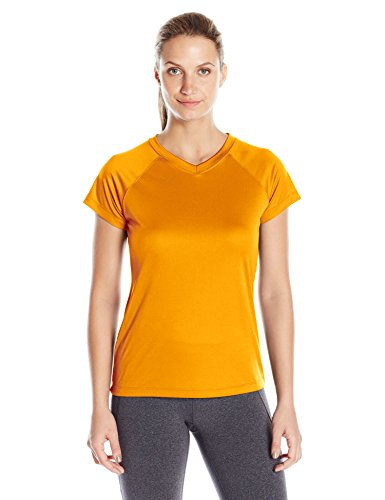 Champion Women's Short Sleeve Double Dry Performance T-Shirt, C Gold, Small ()