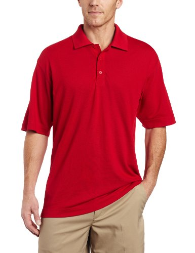 - Cutter & Buck Men's CB Drytec Championship Polo Shirt, Red, X-Large