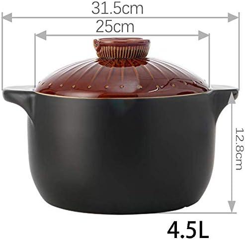 UWY Pots en céramique pour la Cuisson de la Casserole - Pot à ragoût de Casserole de Style Japonais Petit Pot de Soupe Domestique-4.5L