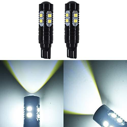 2 PCS 50W 921 912 T10 T15 LED 6000K White Backup Reverse Lights Bulb