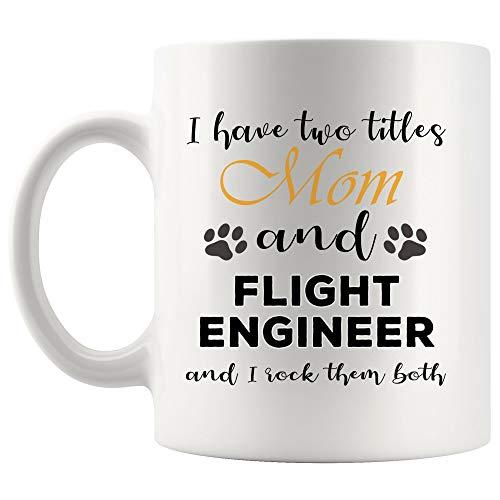 Mom Rock Good Job Flight Engineer Mug Coffee Cup Tea MugsMother Day Motherhood Caring | Funny Gift Graduation Future aircraft