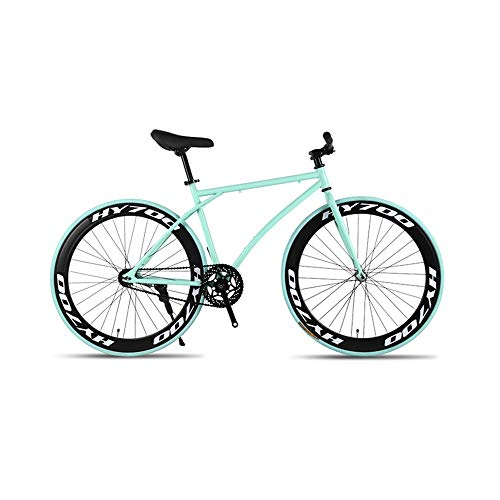 GYZLZZB Minimalist Fixie Single Speed 700C 26 Inch Commuter City Road Bike High Carbon Steel Frame | Frame Urban Reverse…
