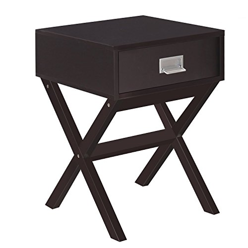 Joveco Modern End Table Nightstand with Drawer and Cross Leg