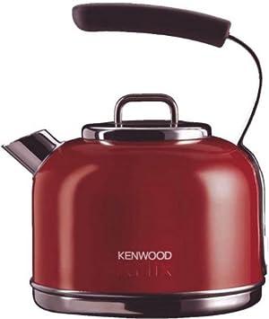 Kenwood SKM031A2 - Hervidor eléctrico, color rojo, material acero, potencia 2200 W