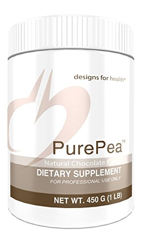 - Designs for Health Pea Protein Powder in Chocolate - PurePea Chocolate, 20g Vegan Protein with Non-GMO Peas (1 lb / 15 Servings)