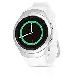 Samsung Galaxy Gear S2 Smartwatch SM-R730T (T-Mobile) with Large Rubber Band - Certified Refurbished (White)