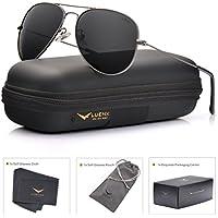 Luenx 2610-18 Men's Aviator Polarized Sunglasses (Grey)