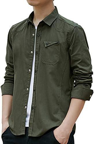 メンズ シャツ長袖 カジュアル ワイシャツ ボタンダウン 純綿 オックスフォードシャツ スリム ビジネスシャツ ロングスリーブ 通勤