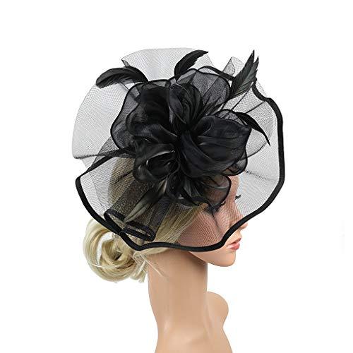 Fascinator Headpiece Feather, Starcy Retro Court Hat, Hemp Headband Headgear from starcy Headwear
