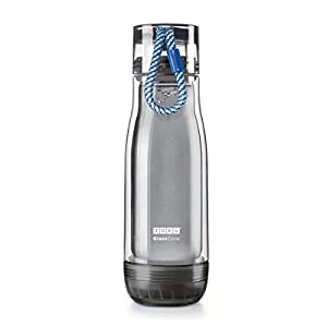 Zoku Glass Core Bottle, 16oz Active, Blue