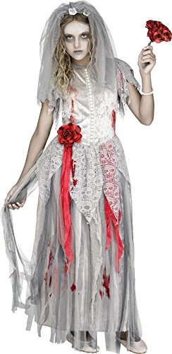 Girls Zombie Bride Halloween Costume (Fun World Zombie Bride Girls Costume Medium)