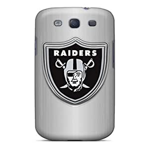 Durable Oakland Raiders Back Case/cover For Galaxy S3 by lolosakes