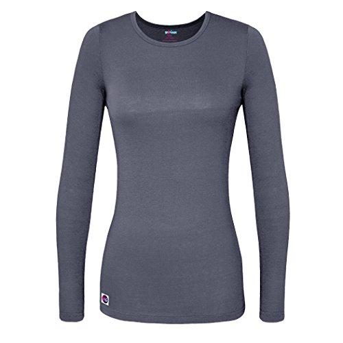 sivvan-womens-comfort-long-sleeve-t-shirt-underscrub-tee-s8500-charcoal-m