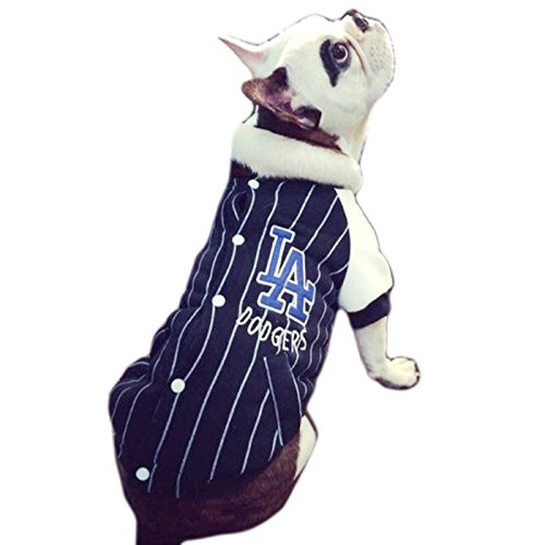Alfie Pet by Petoga Couture - Haines Baseball Jersey - Color: Blue, Size: (Navy Blue Pet Jersey)