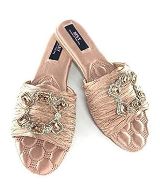 M&Y ladies flat slippers -Pink