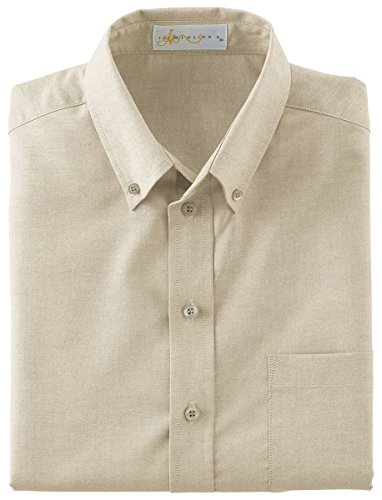 Ash City IL Migliore 87008 Men's Wrinkle Resistant Short Sleeve Button-Down Oxford Shirt Sandstone 732 -