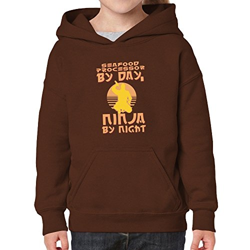 Price comparison product image Teeburon Seafood Processor by day, ninja by night Girl Hoodie