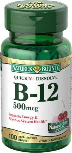 Bounty B-12 Microlozenge 500 mcg de la nature, 100 MicoLozenges