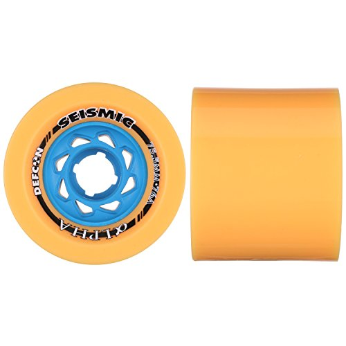 (Seismic Alpha Downhill Longboard Race Wheel [All Durometers] (76a - DefCon Formula - Mango))