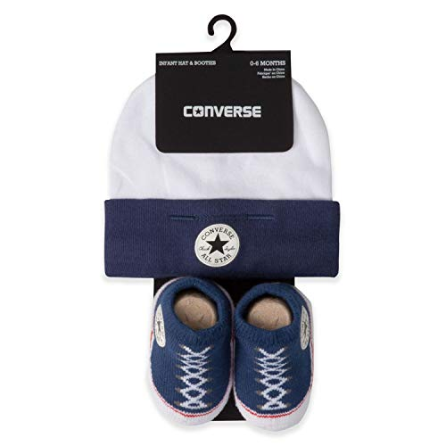 Converse Chuck Taylor Infant Hat and Booties Set (Blue(MC0005-B9P)/White, 6-12 Months) -