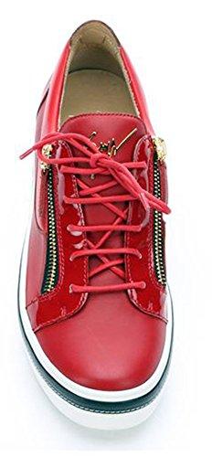 Giuseppe Zanotti Ace Birel Vague Cuir De Veau Rouge Bas Bas Sneaker
