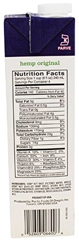 Pacific Natural Original Hemp Milk Non Dairy Beverage 32 Oz 6 Pack