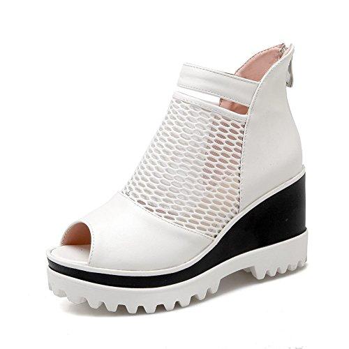 DecoStain Damen Peep-Toe, Weiß - Weiß - Größe: 36.5