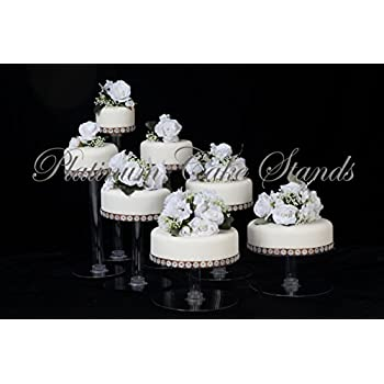 7 Tier Clear Cascade Wedding Cake Stand STYLE R700