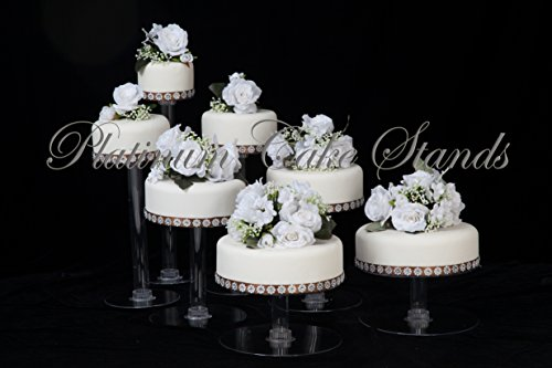 7 Tier Clear Cascade Wedding Cake Stand (STYLE R700) ()