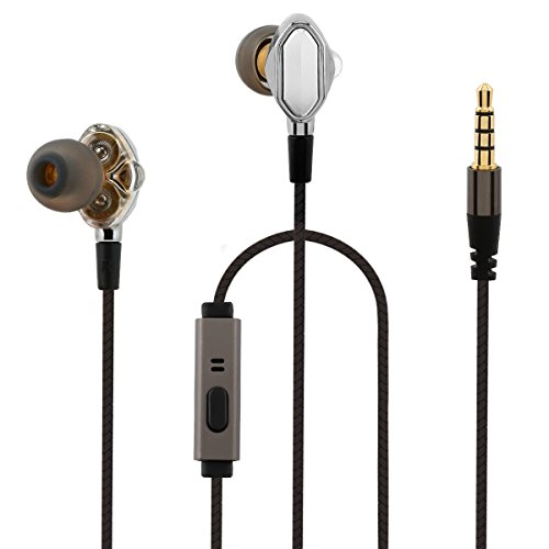 Bestbeisiwo In-Ear Earbuds Heavy Bass Earphones with Noise Isolating Headphone for Smartphone, Pad