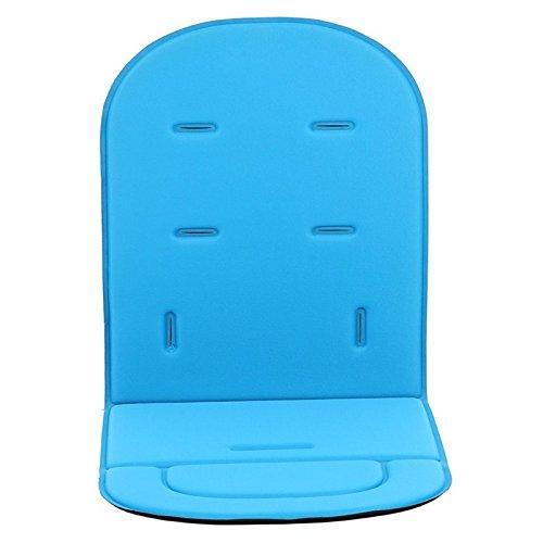 Colchoneta Silla Bebe,Hoyoo,Funda acolchada para asiento de carrito de bebé o asiento de coche,Cojín de poliéster para cochecito, Tamaño del producto: 80 cm * 34 cm * 1.2 cm,Color Azur