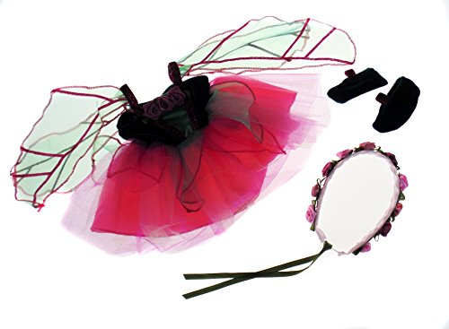 Creative Education Great Pretenders Fairy Blossom Doll Dress with Slippers & Halo Costume