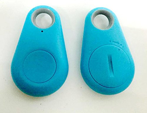 Choler Smart Bluetooth GPS Anti-lost Alarm Device For Collars Pets Dog Cats Kids Elderly General (blue)