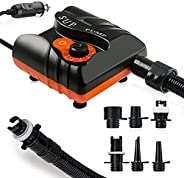 Electric Air Pump for Inflatable Boat, 1St Gen AOLVO SUP Pump 16PSI 12V DC Electric Pump Paddle Board Auto-Off