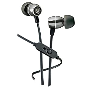 iHome iB18G Noise Isolating Metal Earphones with In-line Mic, Remote and Pouch Gunmetal
